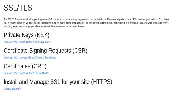 cPanel Install SSL Certificate